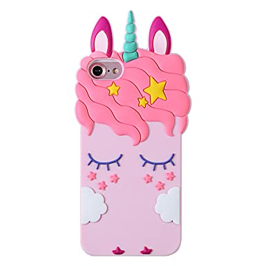 reputable site 5a3ac a7d19 Liangxuer Pink Unicorn Case for iPhone 8/7/6/6S 4.7