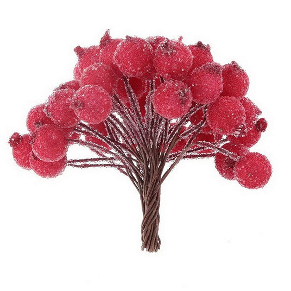 200pcs Simulated Lifelike Plants Flowers Fruits Multi Colors Home Ornament