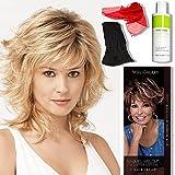 Bundle - 5 items: Tress by Raquel Welch Wigs, Chiffon Scarf, Hairuwear Synthetic Shampoo, Hairuwear Hairloss Booklet, Wig Cap Liner, Color Chosen: R3329S