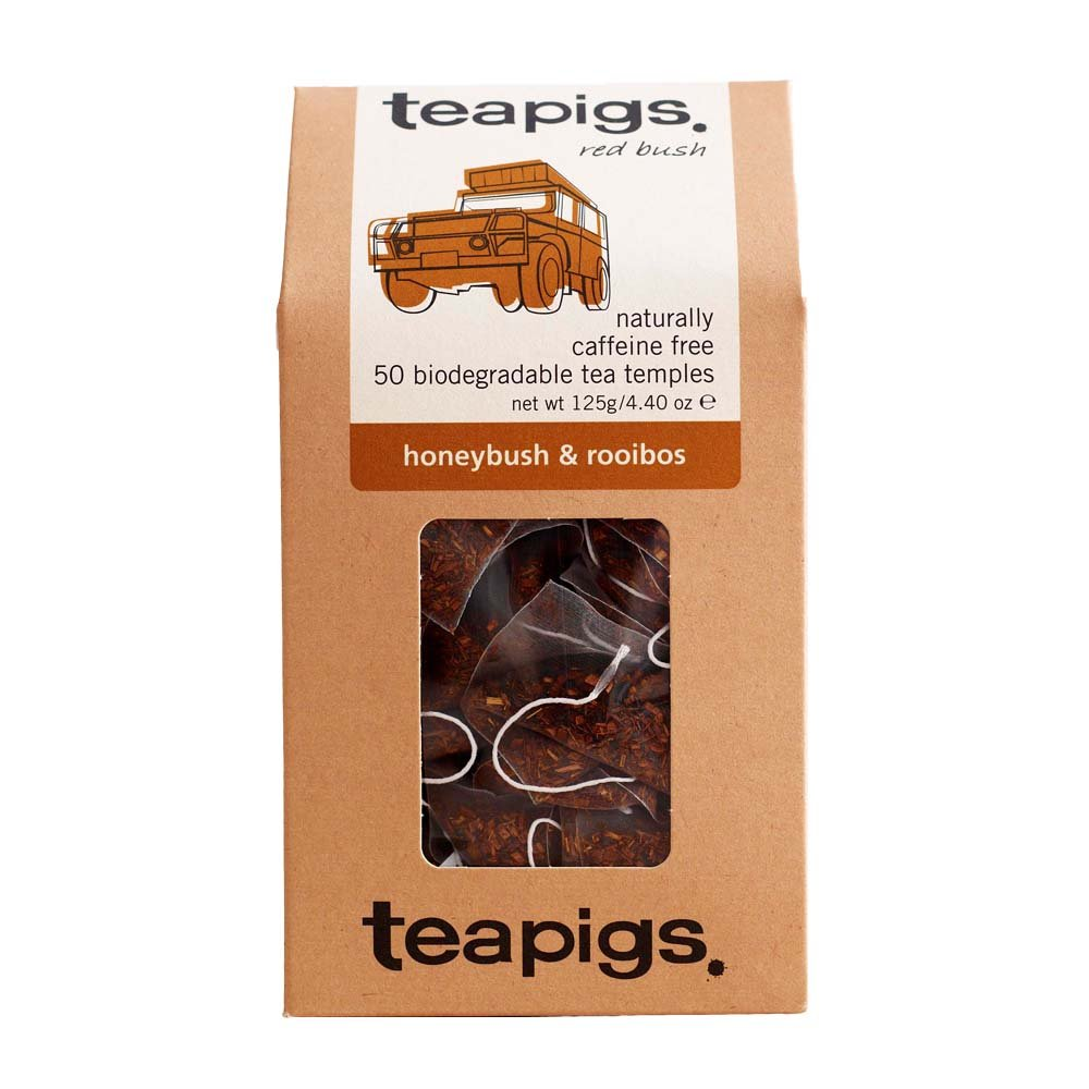 Teapigs Honeybush & Rooibos Tea Bags Made with Whole Leaves (1 Pack of 50 Teabags)