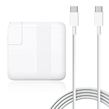 BatPower 87W PD USB-C Cargador Adaptador y Cable de Carga para MacBook Pro 15 Touch Bar 2016 2017 2018 Apple 87W A1708 A1719 Fuente de Alimentación ...