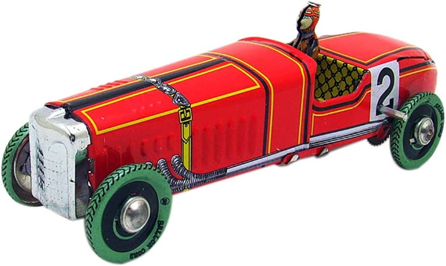 VOSAREA Wind Up Car Toy Metal Tin Clockwork Car Model Retro Collectible Car Craft Ornament for Todders Kids Toys Home Decor