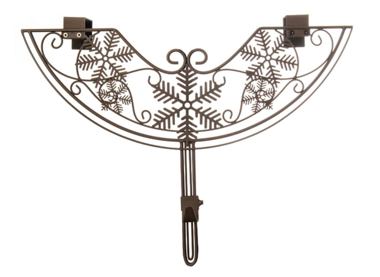 TreeKeeper 24'' Brown Snowflake Style Adjustable Decorative Christmas Wreath Hanger