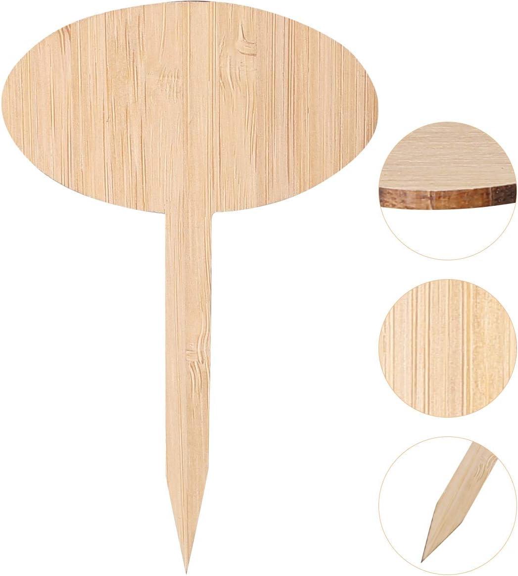 Tianhaik 50 Piezas de Etiquetas de Plantas con Un Rotulador de Bamb/ú Etiquetas de Pl/ántulas de Vivero Marcadores de Jard/ín para Vegetales de Flores
