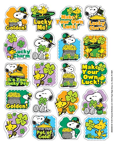 Eureka Peanuts St. Patrick's Stickers, Theme (655059)