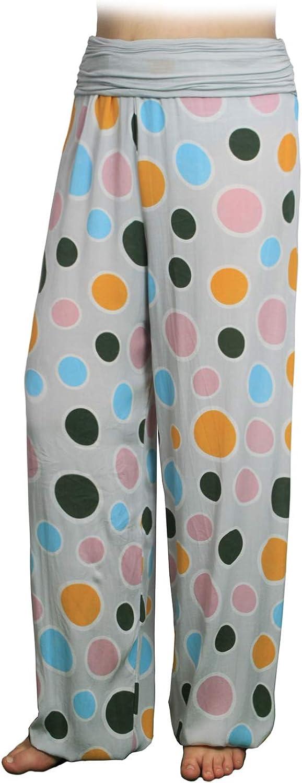 Glamexx24 Pantalones de har/én Ligeros XXL para Mujer Pantalones de Verano con Muchos Patrones