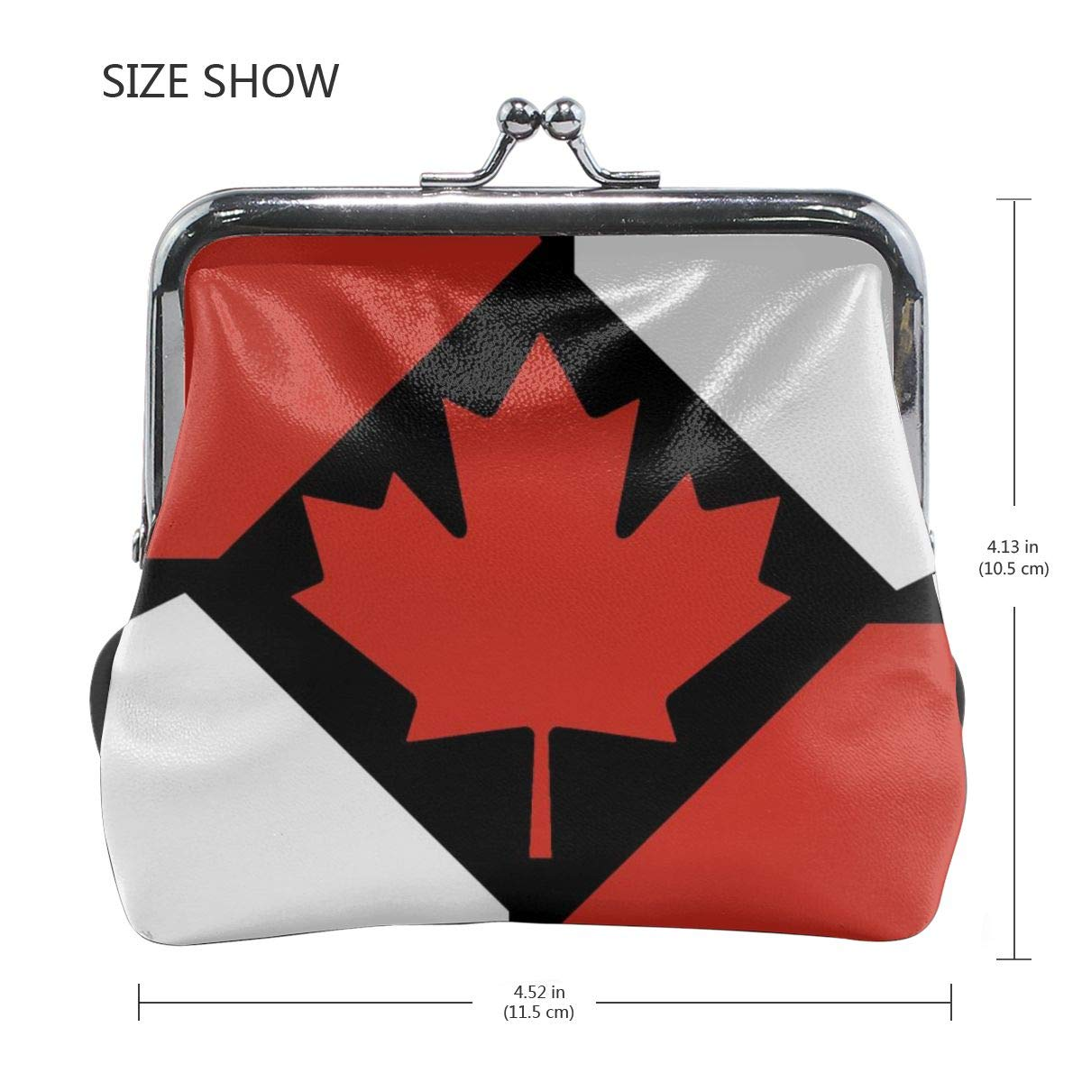 Girl Flag Of The Canadian Buckle Coin Purses Mini Size Wallet