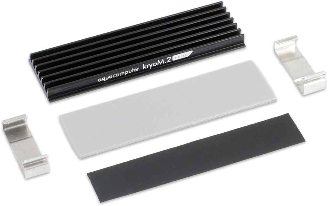 Aqua Computer kryom.2 Micro pasivo Enfriador para SSD M.2 2280 ...