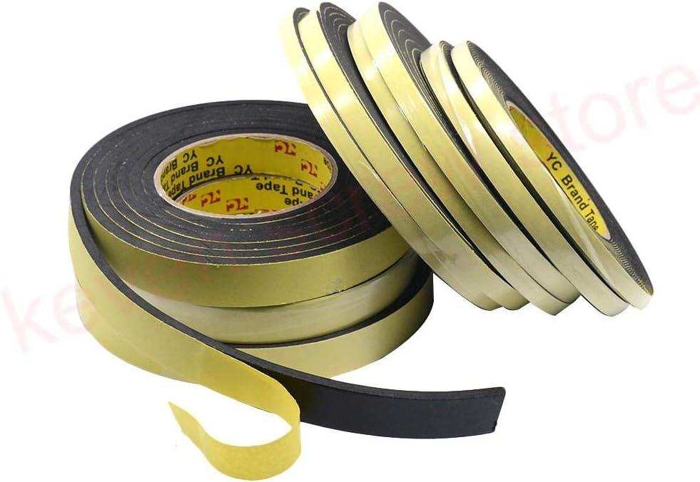sourcing map 3Metro 40mm X 5mm Cinta Adhesiva de Marcaje Una Sola Cara de Espuma Esponja Protecci/ón de Golpes Choques Amarillo Negro