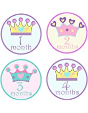 Cute Princess Baby Monthly Sticker, Baby Belly Stickers, Baby Month Stickers, First Year Stickers Months 1-12
