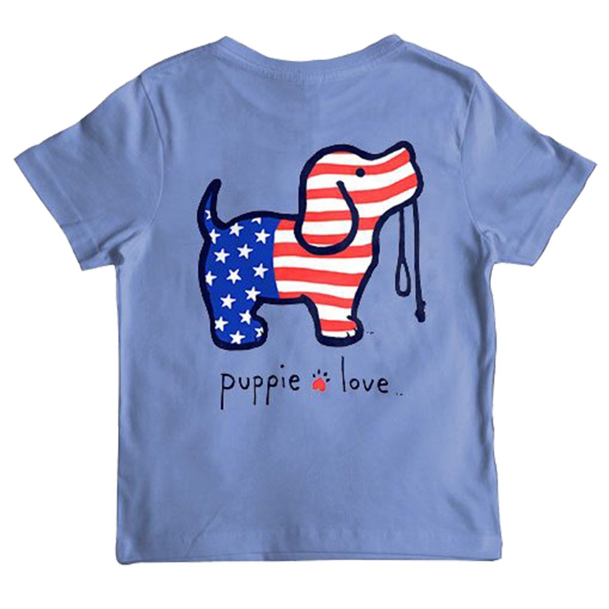 Puppie Love Youth USA Pup Help Rescue Dogs T-Shirt-Youth Large