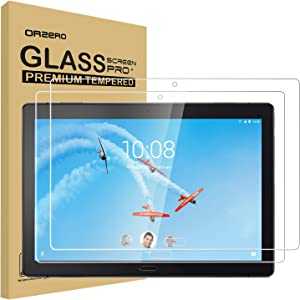 (2 Pack) Orzero Tempered Glass Screen Protector Compatible for Lenovo Smart Tab P10, 9 Hardness HD Clear Film Anti-Scratch Bubble-Free High-Definition Easy-Installation (Lifetime Replacement)