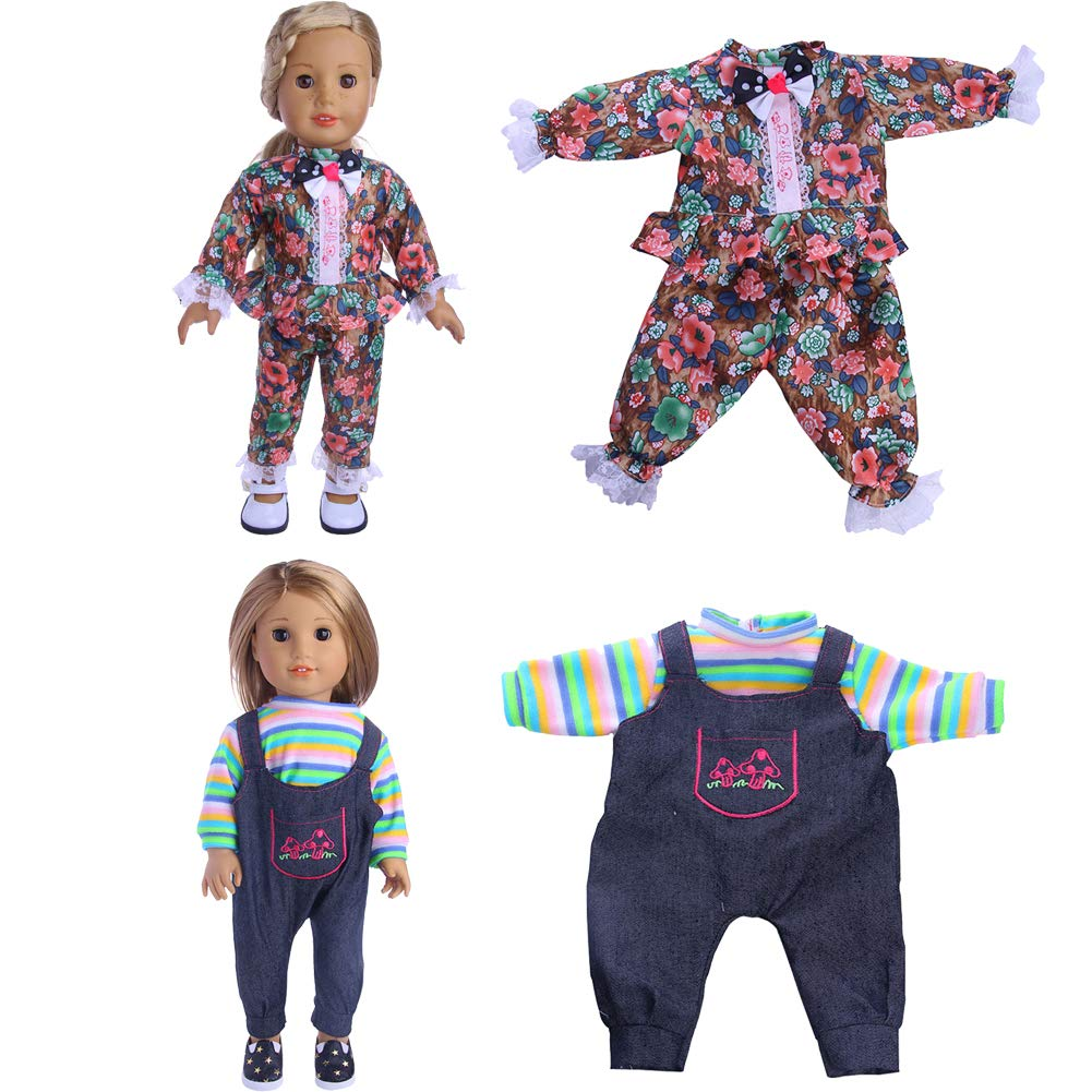 MSDS Lot 10 Pcs Clothes Outfits for American Girl Doll Handmade Dress,Fits 18 Doll Birthday Xmas GIF