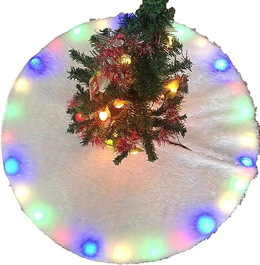 AVEKI falda para árbol de Navidad, falda para árbol de Navidad con ...