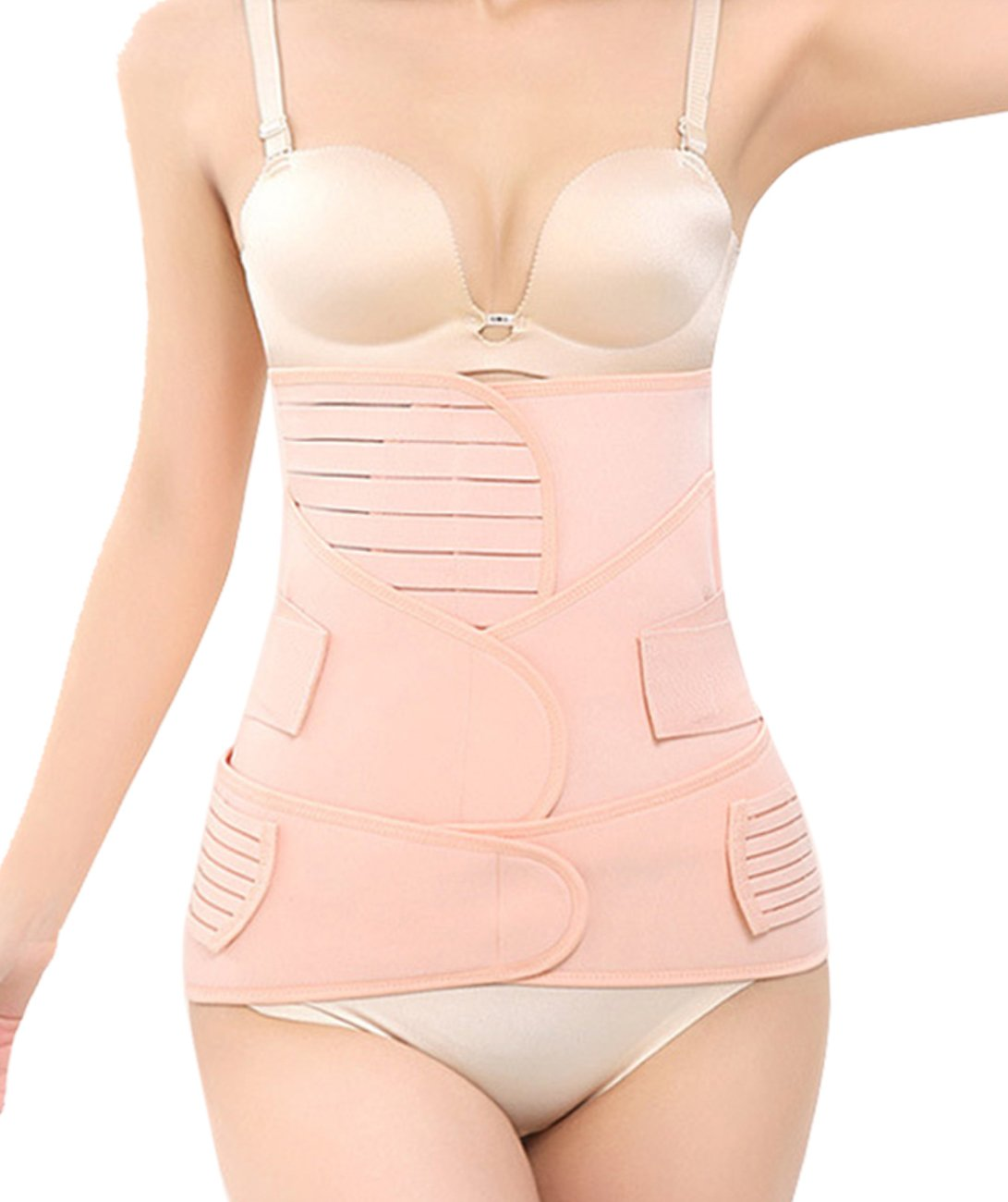 Women 3 in 1 Postpartum Girdle C Section Corset Recovery Belly Band Wrap Belt