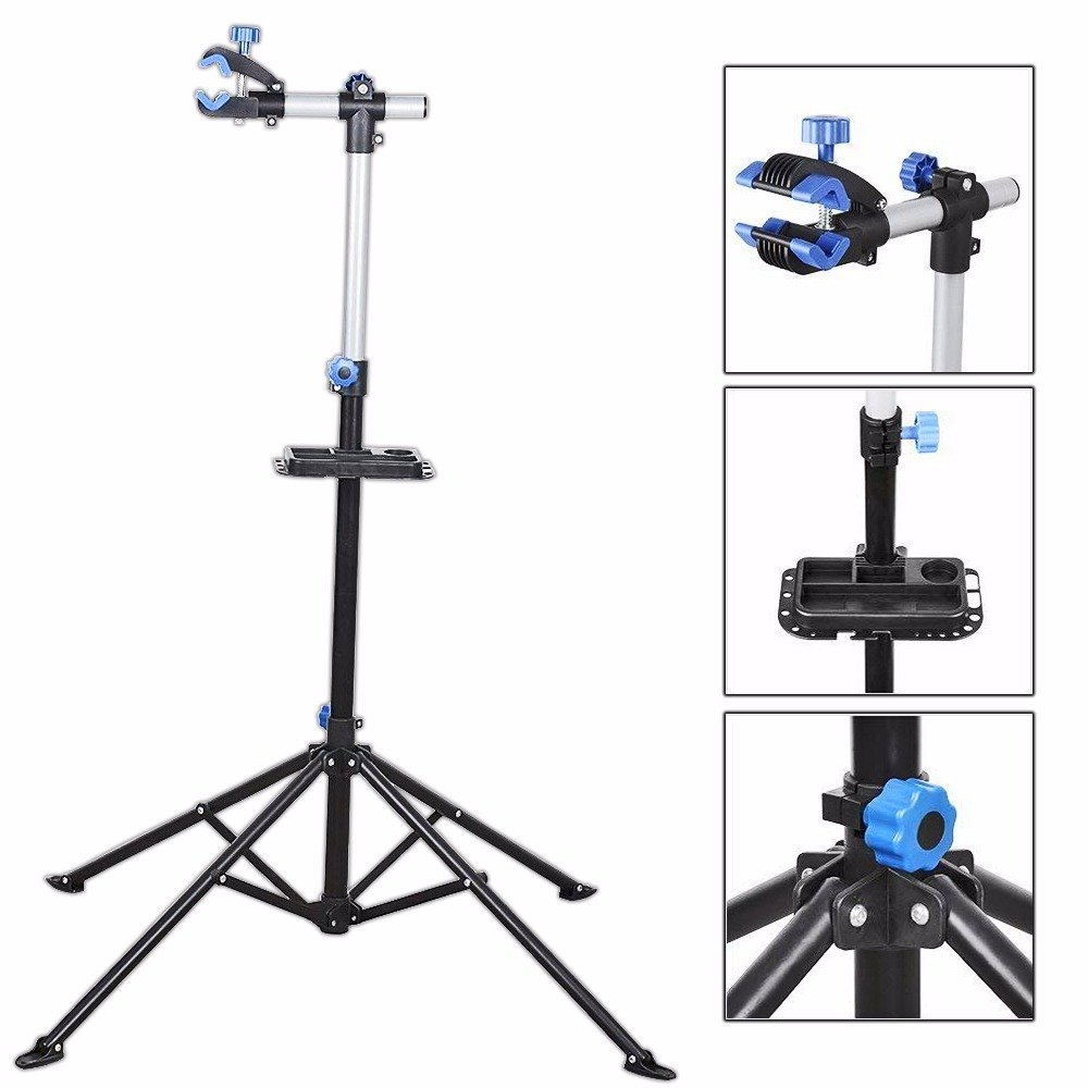 Bike Repair Stand Rack Foldable Cycle Bicycle Workstand Home Pro Mechanic Maintenance Tool Adjustable 41'' To 75'' With Telescopic Arm Clamp Lightweight and Portable by Noa Store (Image #1)
