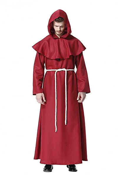 dream cosplay Disfraz Medieval Monje Renacimiento Sacerdote ...
