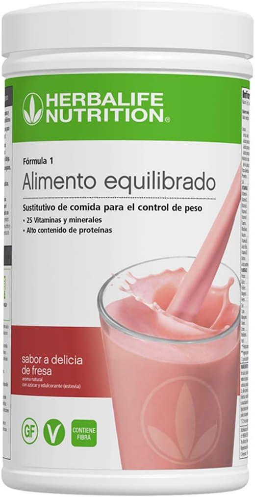 Batido Fórmula 1 550g - (Delicia de fresa) | Herbalife: Amazon.es ...