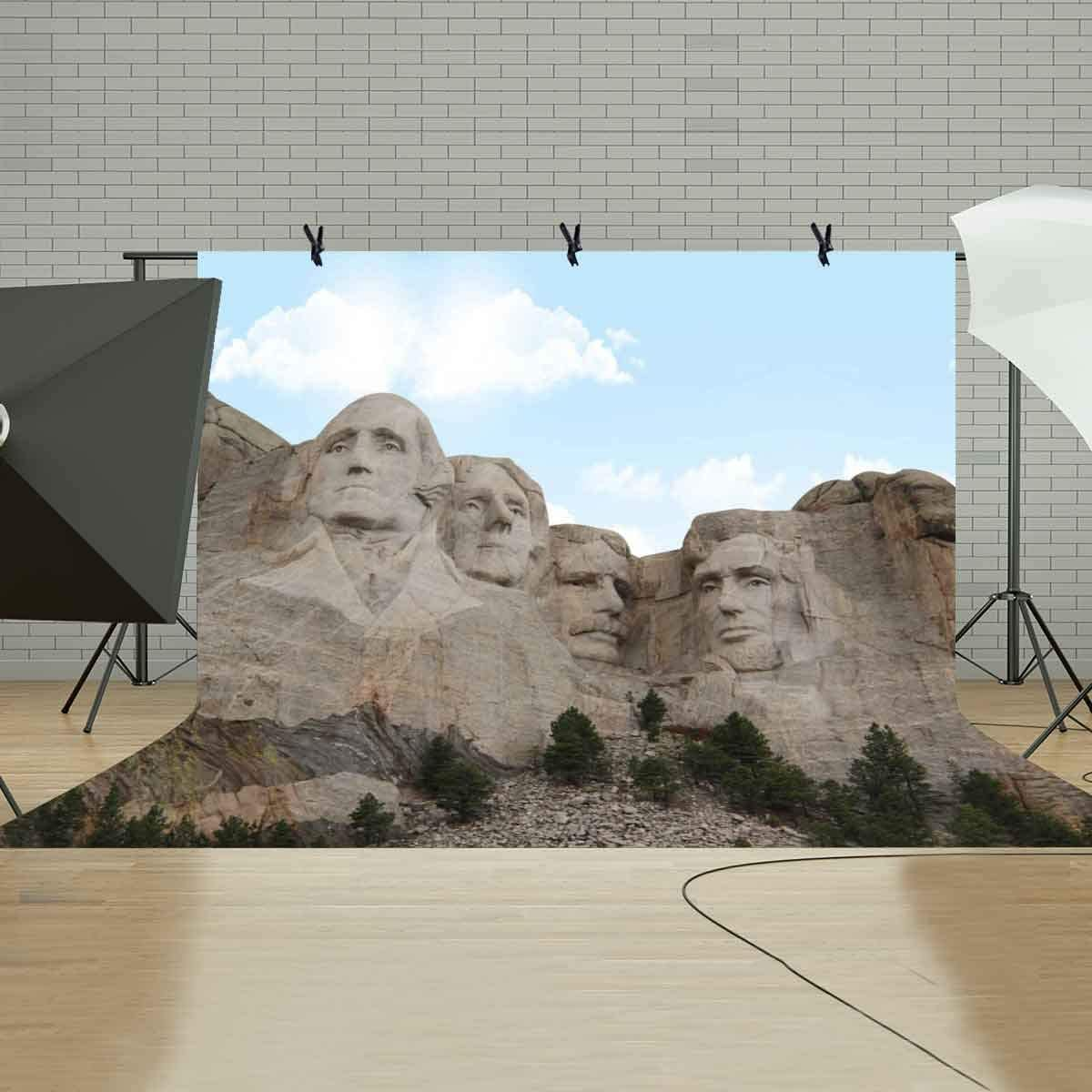 GoEoo 10X7ft Polyester Photography Backdrop Famous Mount Rushmore Photography Background Studio Props LYSH016