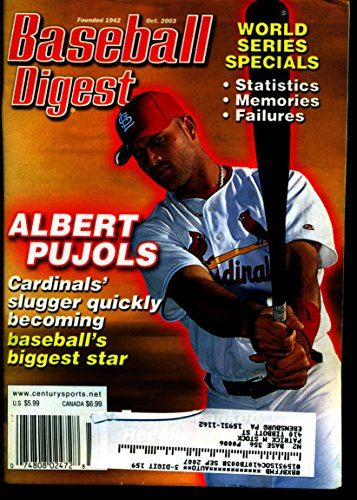 (BASEBALL DIGEST OCT 2003 ALBERT PUJOLS CARDINALS EX)