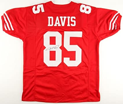 best sneakers 03170 25450 Vernon Davis Autographed Signed 49ers Jersey - JSA Certified ...