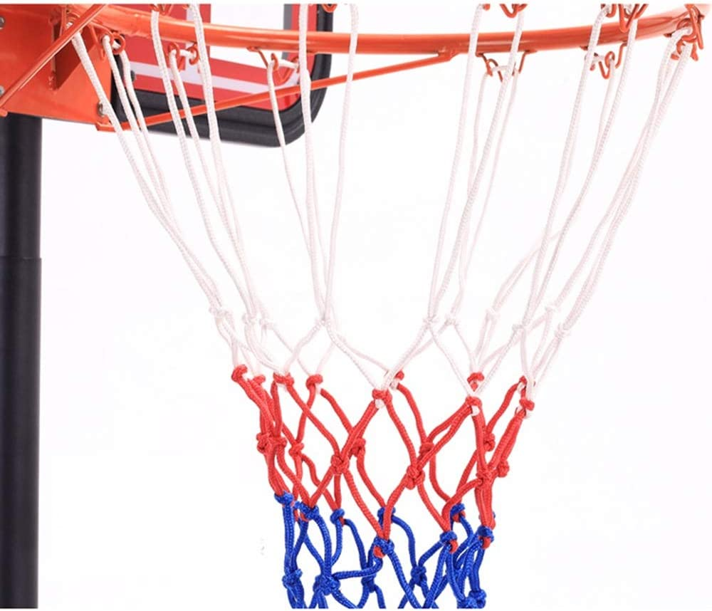XINGLIAN Teens Portable Canasta Aro De Baloncesto Height Adjustable Canasta Aro De Baloncesto Backboard Net Hoop Set with Wheels Outdoor Basketball Sport For Kids 2 Sizes