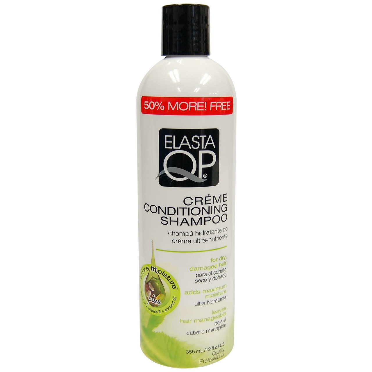 Elasta Qp Creme Conditioning Shampoo for Dry Damaged Hair, 12 Ounce