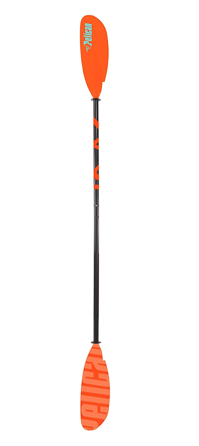 Pelican Sport Vesta Fiberglass Wrapped and Reinforced Kayak Paddle, Premium Quality Material, Orange/Black Pelican - CA PS1137