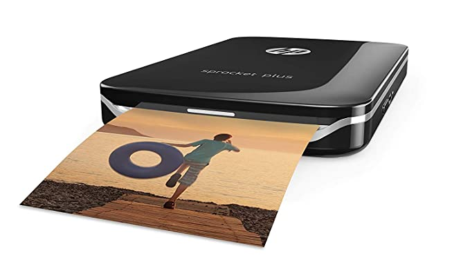 HP Sprocket Plus Instant Photo Printer (Black) Photo Printers at amazon