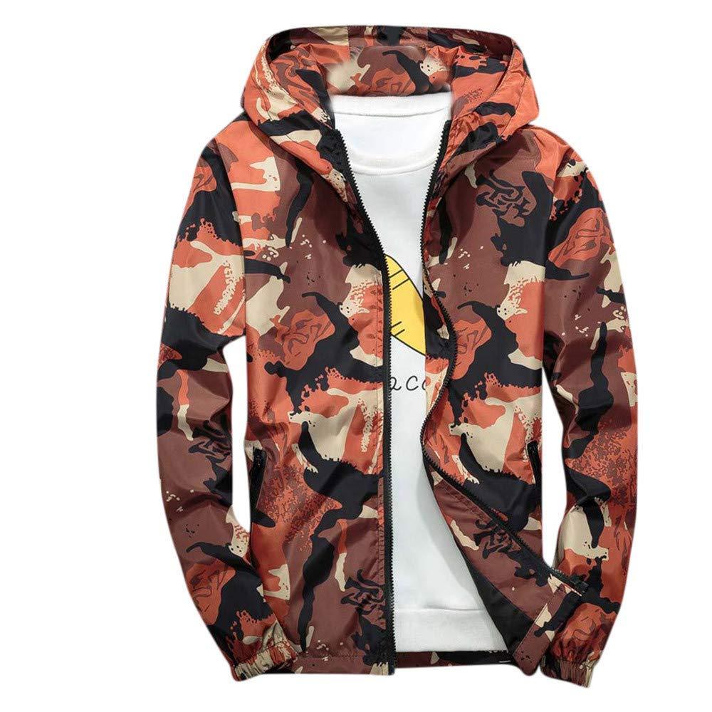 Mens Coat,Winter Camouflage Hoodie Casual Long Sleeve Soft Shell Waterproof Windproof Outdoor Outwear