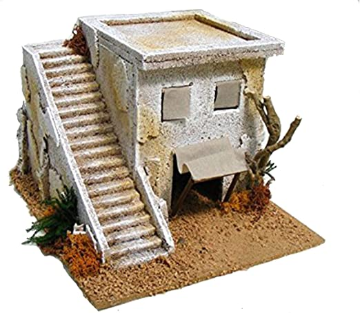1 minareto con escalera 22 x 25 cm Decoración Diseño Belén Navidad Figuras: Amazon.es: Hogar