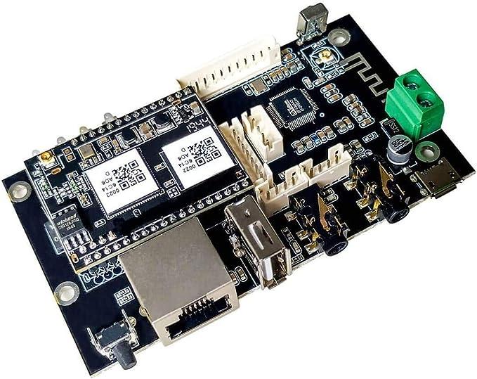 WiFi & Bluetooth Placa receptora de Audio, Módulo de Circuito Receptor de Música Multizona Inalámbrico para el hogar con Airplay Spotify Connect y ...