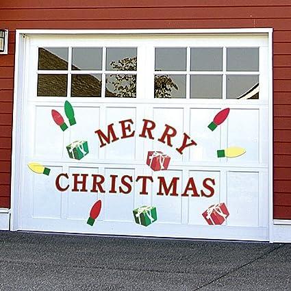 Amazon.com: Bandwagon Christmas Garage Door Decals, Red, : Home U0026 Kitchen
