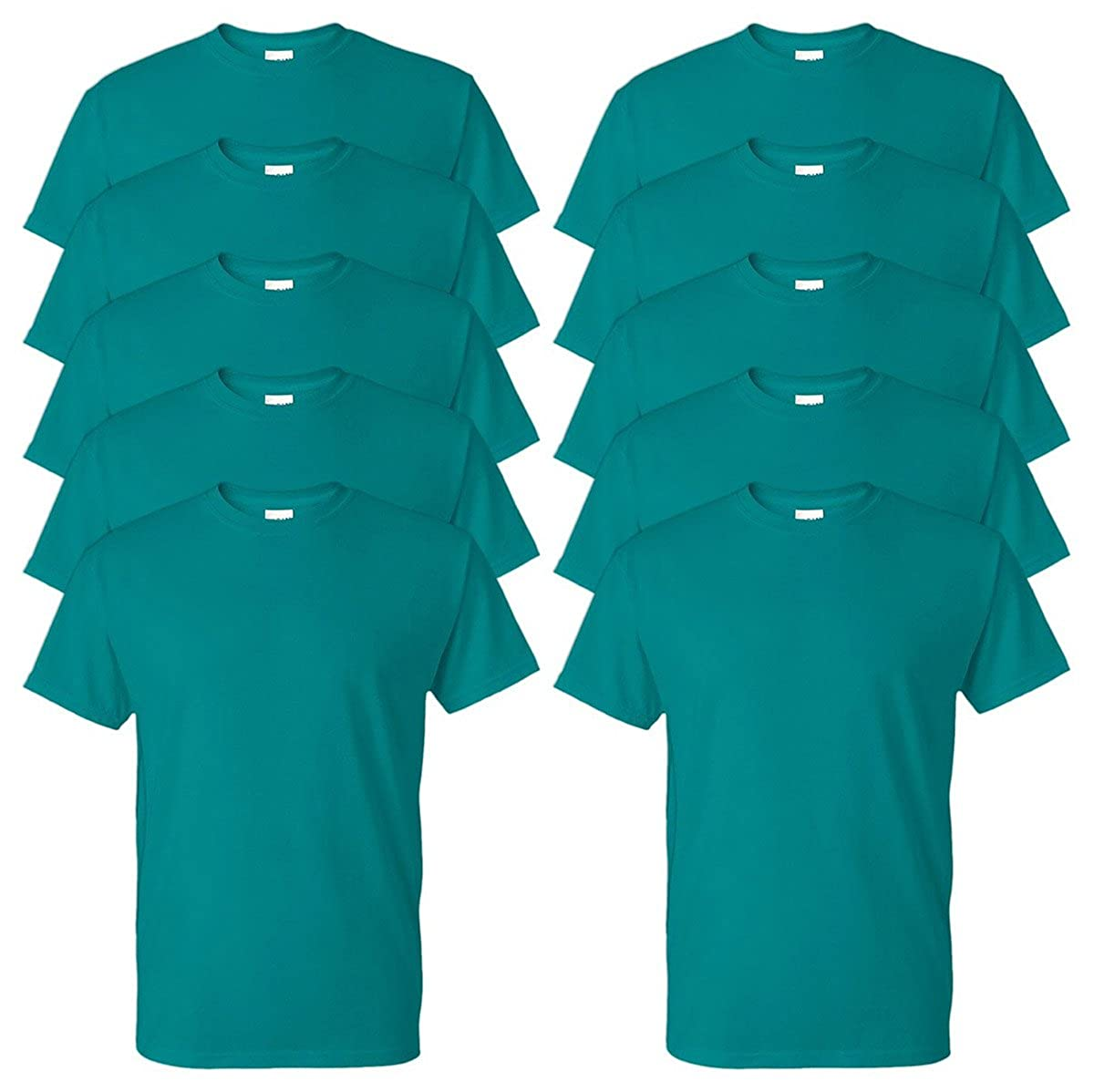 Pack of 10 Gildan Adult DryBlend Sports T-Shirt Jade Dome XL