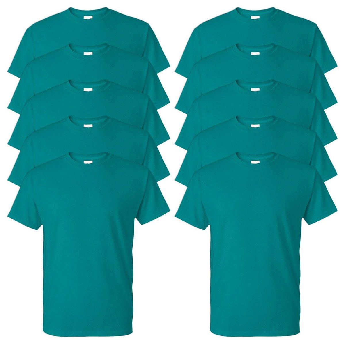 Gildan Adult DryBlend Sports T-Shirt, Jade Dome, 4XL (Pack of 10)