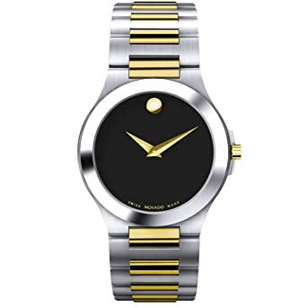 65ff1a3d8f6 Image Unavailable. Image not available for. Color  Movado Men s 606181 Two- Tone Silver Gold Black Watch