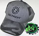 diesel motor - detroit trucker ball cap hat gear motor engine diesel semi baseball gray camo