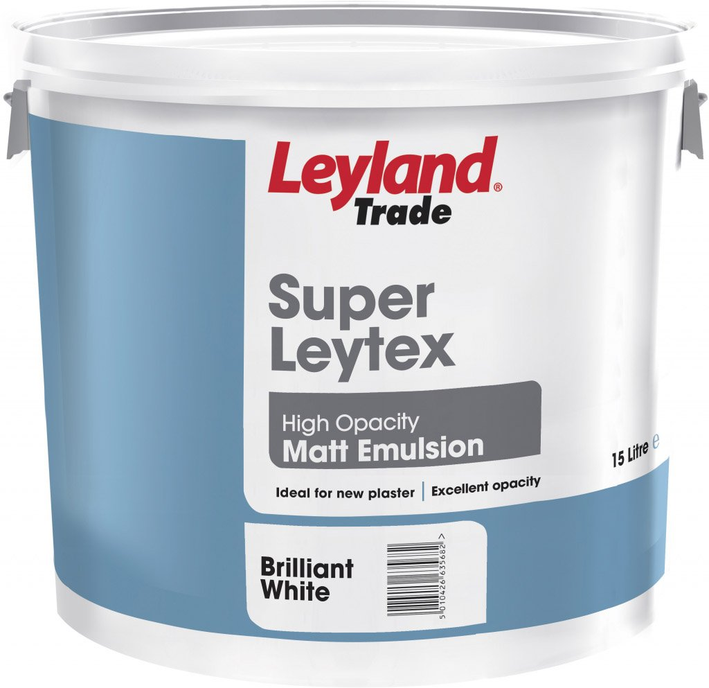 Leyland Super Leytex Matt 15L Brilliant White Leyland Trade