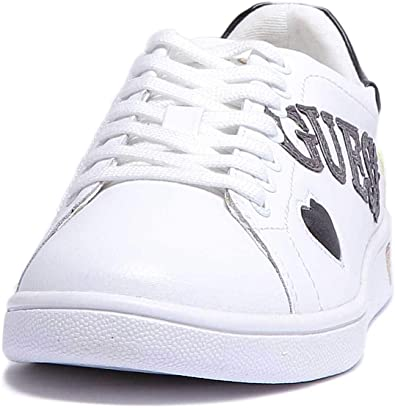 Guess FLUPE3 LEA12 Sneakers Donna Bianco 40: Amazon.it