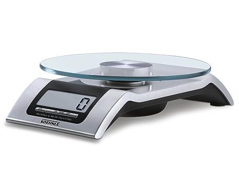 Soehnle Style - Báscula de cocina digital, plana, color plateado