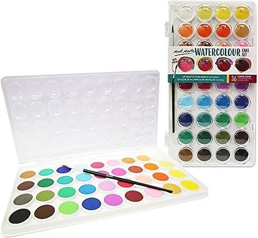 Set de pinturas de acuarela 24 colores vibrantes para aficionados incipientes y profesionales pincel incluido