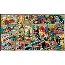 RoomMates JL1290M Ultra-Strippable Marvel Classics Comic Panel Mural, 6-Feet x 10.5-Feet, 1-Pack