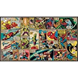 RoomMates JL1290M Ultra-Strippable Marvel Classics Comic Panel Mural, 6-Feet x 10.5-Feet