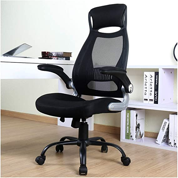 BERLMAN Ergonomic High Back Mesh Office Chair with Adjustable Armrest Desk Chair Computer Chair (Black Plus)