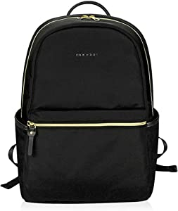 KROSER Laptop Backpack 15.6 Inch Fashion School Backpack Water-Repellent Computer Backpack Laptop Bag Nylon Casual Daypack with USB Charging Port for Travel/Business/College/Women/Men-Black