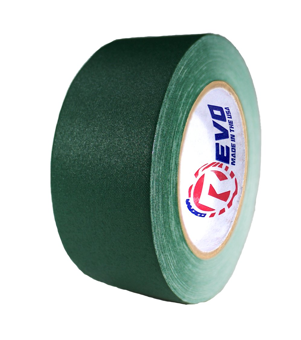 REVO Premium Professional Gaffers Tape (2'' x 30 yards) MADE IN USA (GREEN GAFFERS) Non Reflective Tape- Camera Tape- Better than Duct Tape (Black, Gray, Green, Red, White, Yellow) SINGLE ROLL