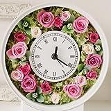 プリザーブドフラワー 花時計ピンク