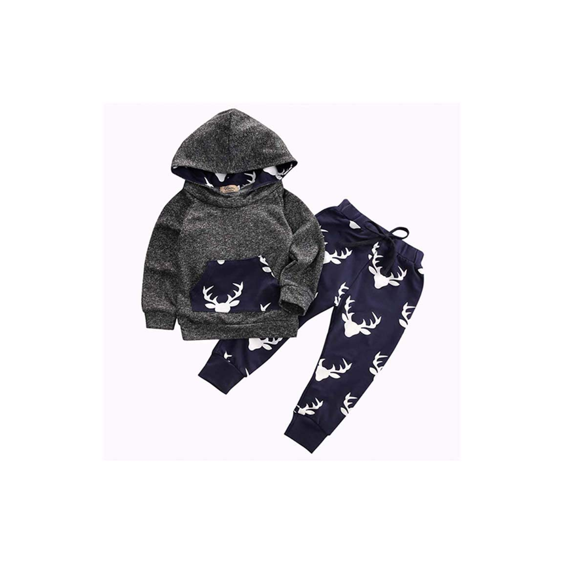 8f66d20fb Amazon.com  Baby Boys Christmas 2PCS Outfits Clothes Set Long Sleeve ...