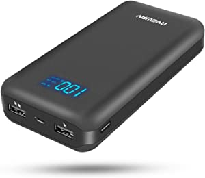 Power Bank 26800mah Portable Charger with Dual Output and Dual Input,Battery Backup Portable Phone Charger with LCD Screen,Compact External Battery Pack for iPhone,Samsung Galaxy,ipad and More.