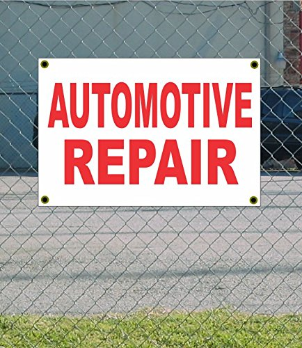 Discount AUTOMOTIVE REPAIR 2x3 White w/ Red Banner Sign